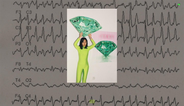 """Bildschirmaufnahme der Projektseite """"Green Diamond"""" der Künstlerin Rachele Maistrello"""